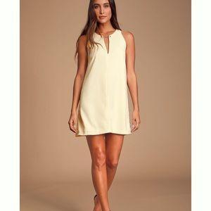 Lulu's Near or Bar Cream Shift Dress